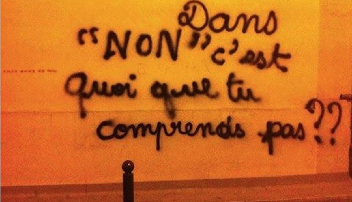"""Graffiti """"Dans non, c'est quoi que tu ne comprends pas??"""""""