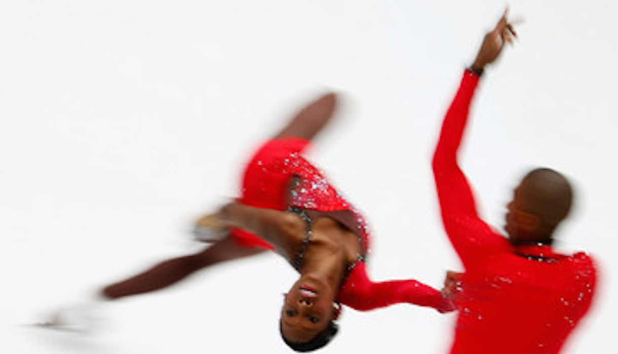 Vanessa James et Yannick Bonheur, Champions de patinage artistique
